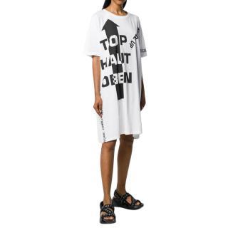 Maison Margiela White Printed T-Shirt Dress