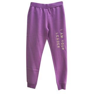 Zoe Karssen Purple Distressed Joggers