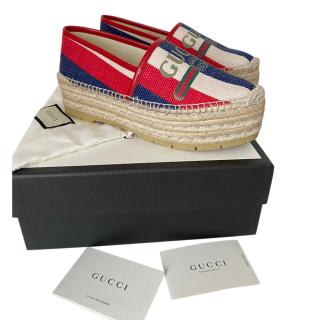 Gucci Sylvie Platform Espadrilles