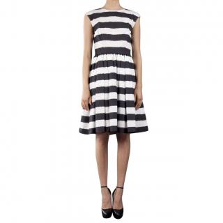 Dolce & Gabbana Striped Sleeveless Black & White Dress