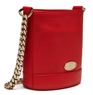 Mulberry Red Leather Mini Jamie Bucket Bag