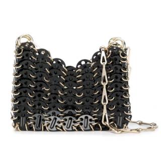 Paco Rabanne Gold/Black 1969 Nano Onyx Bag