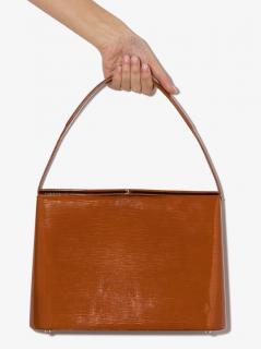 Rejina Pyo Tan Patent Felix Top Handle Bag