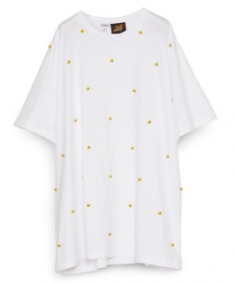 Loewe x Smiley White Smiley Button Oversized T-shirt - Sold Out Ltd Ed