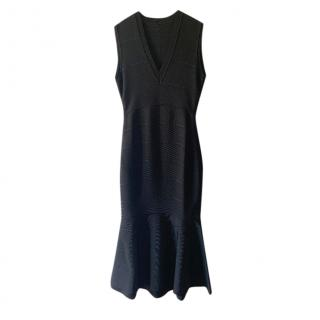Givenchy Black Fit & Flare Knit Dress