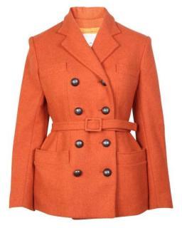 Nina Ricci Orange Wool Belted Jacket