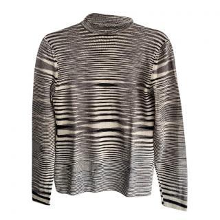Missoni Black & White Striped Sweater