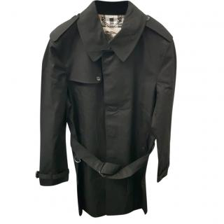 Burberry Mens Black Classic Trench Coat