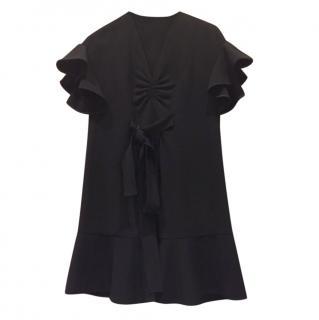 Miu Miu Black Ruffled Dress