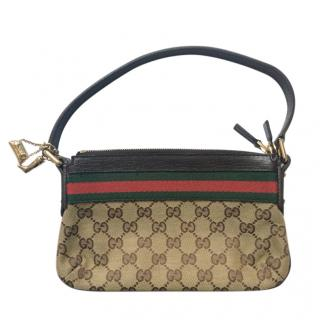 Gucci Vintage Monogram Canvas Top Handle Bag