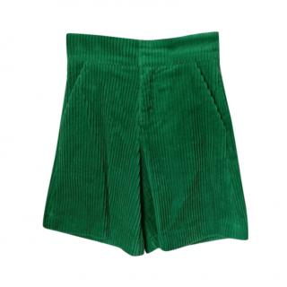 Marni Kids 6Y Green Corduroy Shorts