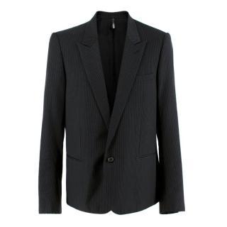 Dior black single breasted pin-striped blazer