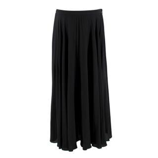 Valentino pleated silk-chiffon midi skirt