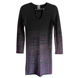 M Missoni Zig-Zag Knit Ombre Dress