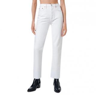 Re/Done Originals White Denim Original Jeans