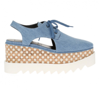 Stella McCartney Denim Elyse Slingback Brogues