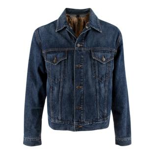 Gucci Denim Jacket with Detachable Fur Lining