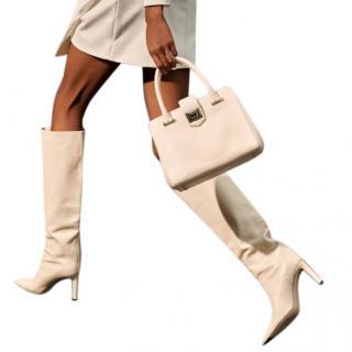 Jimmy Choo Linen Leather Mavis 85 Boots