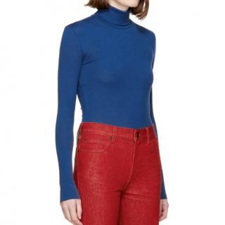Calvin Klein 205W39NYC Blue Turtleneck Jumper