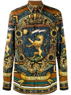 Dolce & Gabbana DG King Printed Men's Shirt