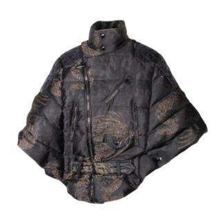 Moncler Black Brocade Dragon Ichou Down Jacket