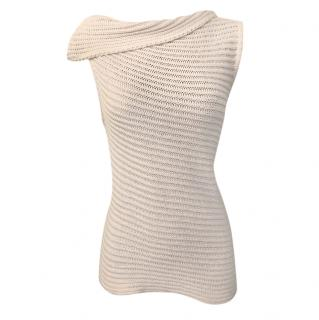Joseph white Knit Asymmetric Sleeveless Jumper