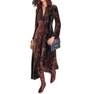 Etro Rosolite paisley devor�-velvet dress