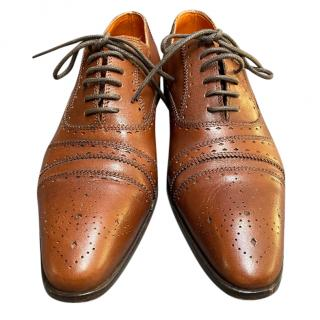 Etro Tan Leather Men's Brogues