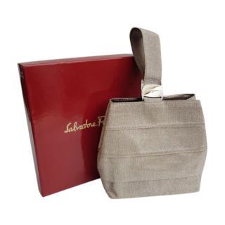 Ferragamo Vintage Silver Vara Top Handle Bag