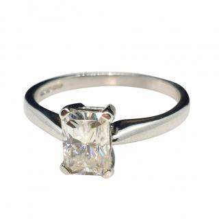 Bespoke Moissanite Solitaire Ring 18ct Gold