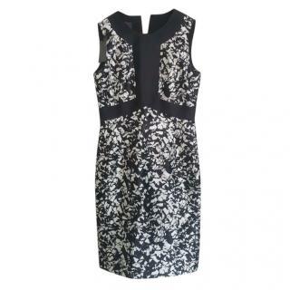 Max Mara Black & White Sleeveless Sheath Dress