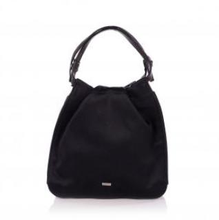 Gucci Black Vintage Satin Mini Top Handle Bag