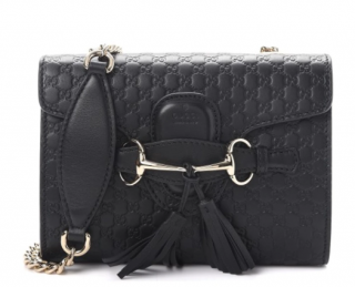 Gucci Blue Microguccissima Mini Emily Shoulder Bag
