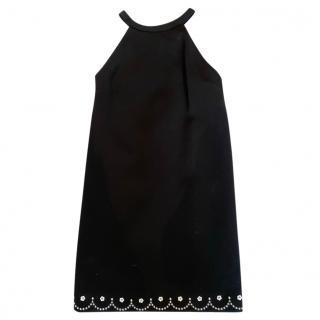 Miu Miu Black Crystal Embellished Mini Dress