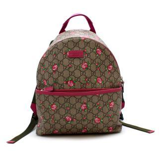 Gucci GG Supreme Floral Print Canvas Kids Backpack