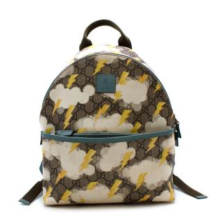 Gucci Kids GG Monogram Canvas Lightening Print Backpack