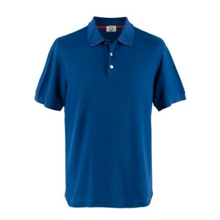 Hermes Sellier Blue Cotton Blend Double Jeu Polo Shirt