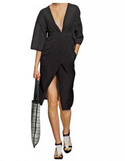 Zero+ Maria Cornejo Black Kimono Dress