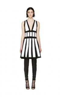 Givenchy Black & White Studded Crochet Dress