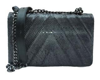 Hidetoshi Black Stringray Shoulder Bag