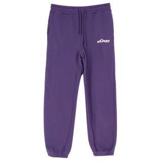 Stussy Purple Cotton Blend Joggers