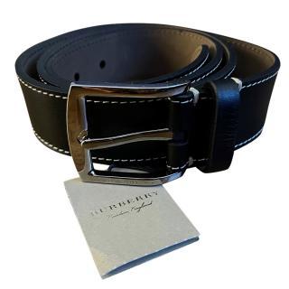 Burberry Black Leather Mens Belt - Size 95
