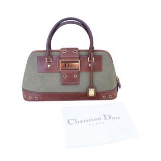 Dior Vintage Khaki Columbus Street Bag
