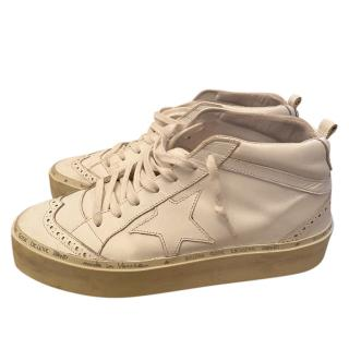 Golden Goose White Star Mid-Top Sneakers