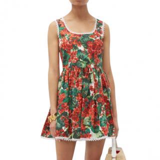 Dolce & Gabbana Geranium Print Mini Dress