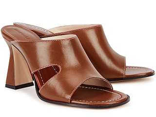 Wandler Marie 85 brown leather sandals