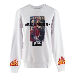 Patta White Cotton Remember Crewneck Sweater