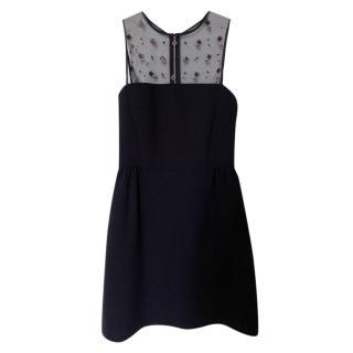 Sandro Embellished Black Mini Dress