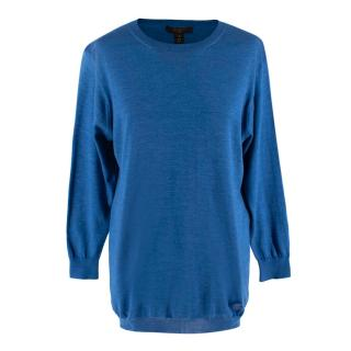 Louis Vuitton Blue Cotton Knit Sweater