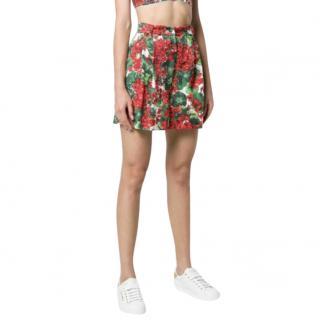 Dolce & Gabbana red geranium print Portofino shorts